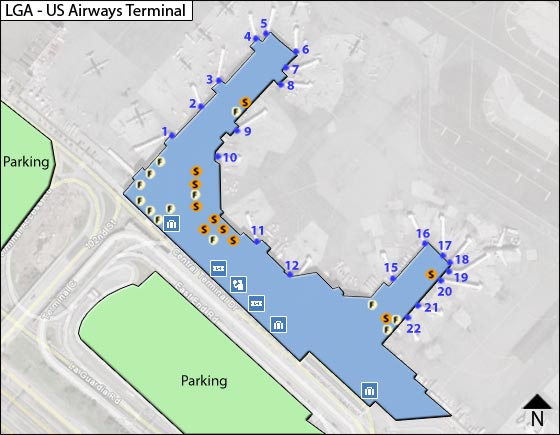 Lga airport terminal C us airway map limousien town car