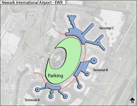 ewr newark international map