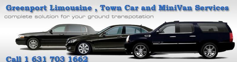 Greenport limousine, town car and Minivan airport jfk,lga, isp,ewr airport